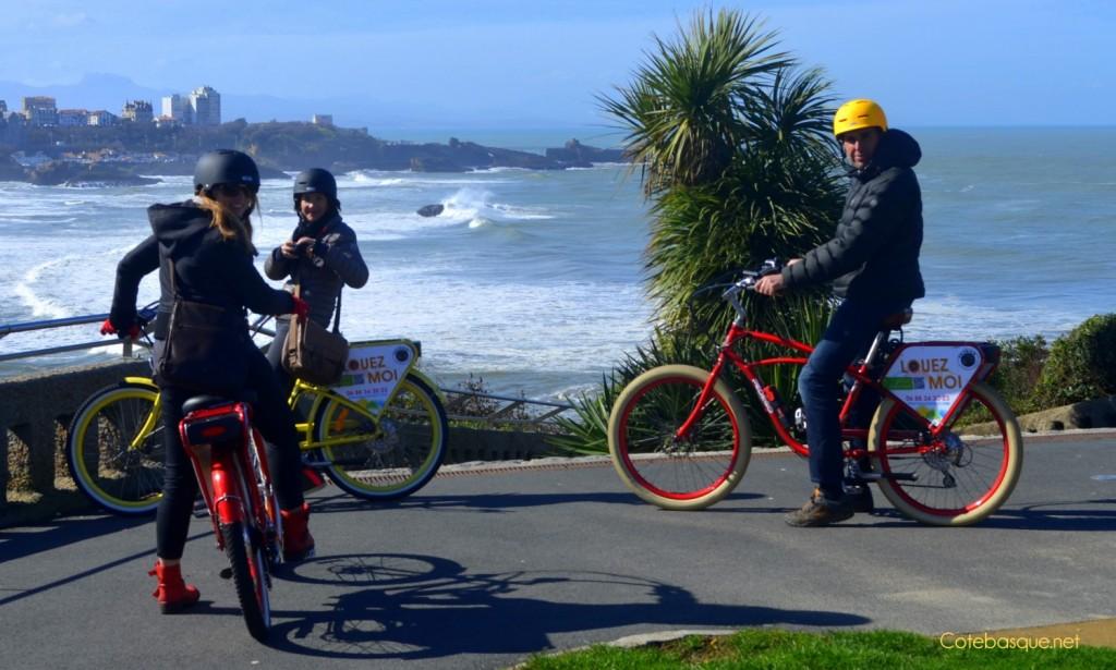 Biarritz en vélo électrique avec Pedego