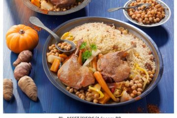 Le Couscous au Confit de canard et aux légumes anciens