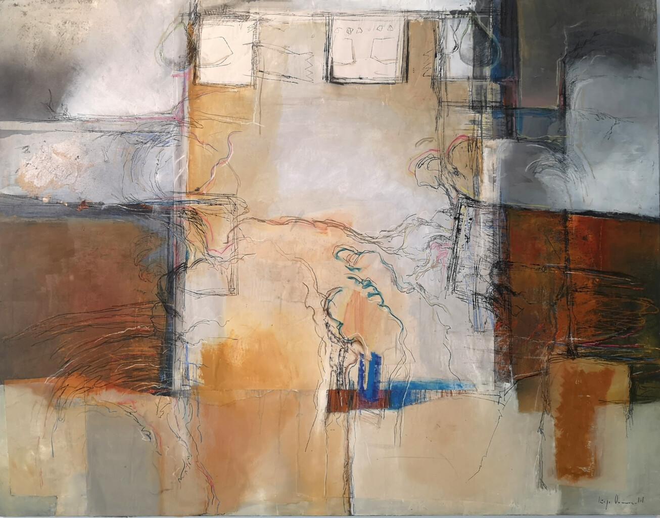 """a Galerie GAAB pour vous présenter les toiles d'Iñigo Ormazabal, que nous avons le privilège d'exposer du 16 Septembre au 30 Octobre 2021. Iñigo Ormazabal est malheureusement décédé en début d'année. Il a vécu comme il est parti, en peignant. Son épouse Margaret nous fait l'honneur de nous confier son remarquable travail. D'après Edorta Kortadi, critique d'art, """"ses peintures respirent le raffinement, le bon goût. [...] Ormazabal est un raffiné de l'abstrait."""". Reconnu pour ses peintures de très grande qualité, l'art d'Iñigo Ormazabal peut être qualifié d'Expressionnisme Abstrait. Il s'inscrit dans la lignée de Rothko et d'autres grands expressionnistes américains. Adepte des tons ocres et oranges, en gestes déconstruits, il créé des toiles colorées, géométriques, aux finitions soignées. Iñigo Ormazabal aime accentuer les contrastes et jouer sur les textures. Sa technique est mixte. Il s'emploie parfois à la superposition de peinture et au grattage, qui apportent du relief à la toile, ou bien à la technique du collage – utilisée dans de nombreux cas, mais à peine perceptible – qui permet de créer des dimensions, varier les plans. Certaines toiles sont réalisées à l'intuition, d'autres nécessitent une réflexion. N'hésitez pas à nous contacter pour de plus amples renseignements. Bien cordialement, Anne et Léa Ouvert du mardi au samedi inclus 10h30-13h / 15h-19h 8 rue Gambetta Biarritz 64200 Tél : 0559237226 www.galeriegaab-biarritz.com"""